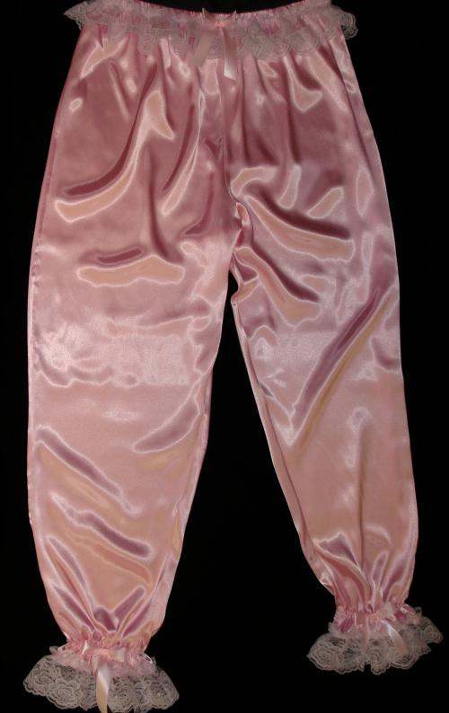PNT-L1   LONG SATIN BLOOMERS (COLORS)