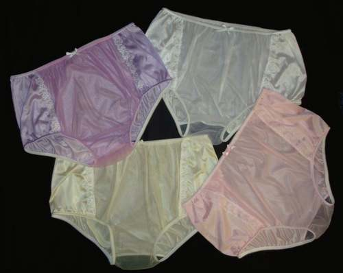 "2002  Tricot & Sheer Nylon Panties ""Briefs or High Leg"""