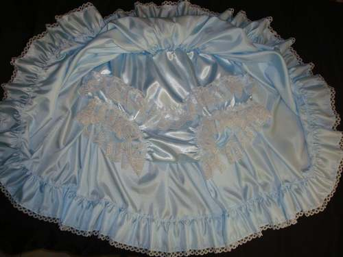 SP-1  SATIN SKIRT with ATTACHED PANTIES & LACE