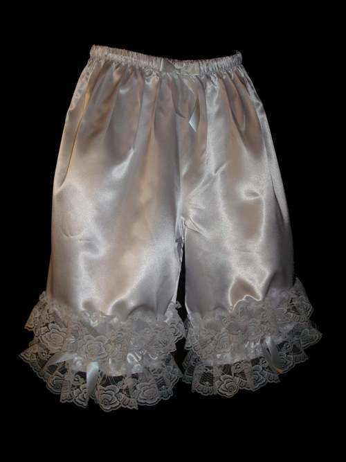 PNT3  SATIN PANTALOON BLOOMERS WITH LACE- MANY COLORS
