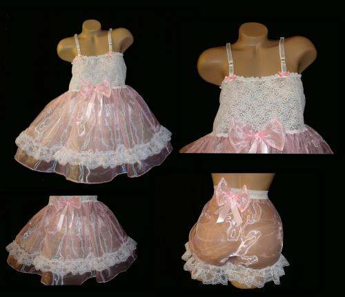 BD-2  Organza Baby Doll & PANTY SET (MANY COLORS)