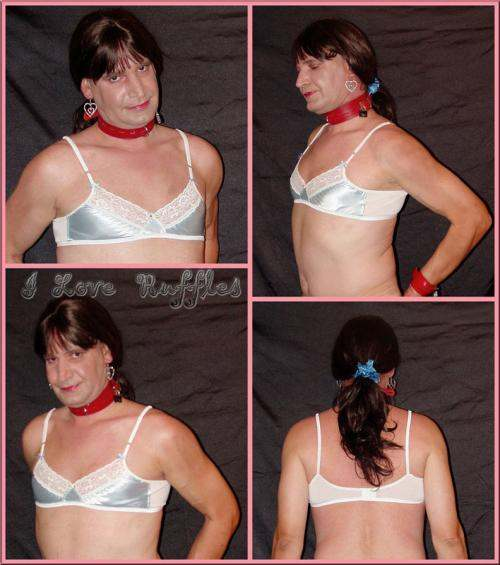 CHM6  SATIN & LACE SISSY BRA - many colors