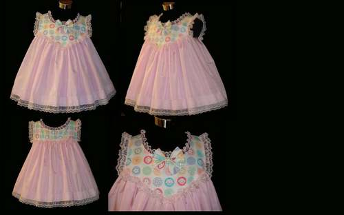 D-201  BABY DRESS AND MATCHING RUMBA PANTIES