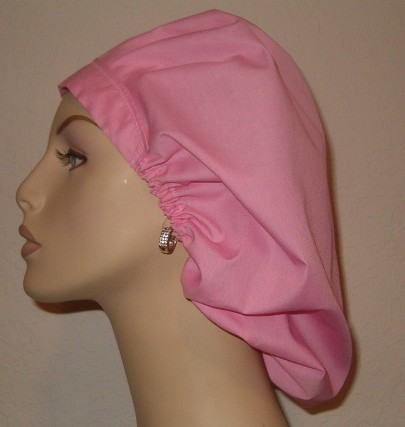 Solid Color Bouffant or Ponytail Scrub Hat (Your choice of color)